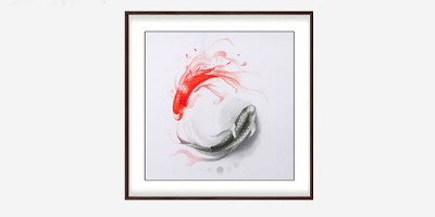 挂一幅《太极鱼》作为餐厅装饰画吧