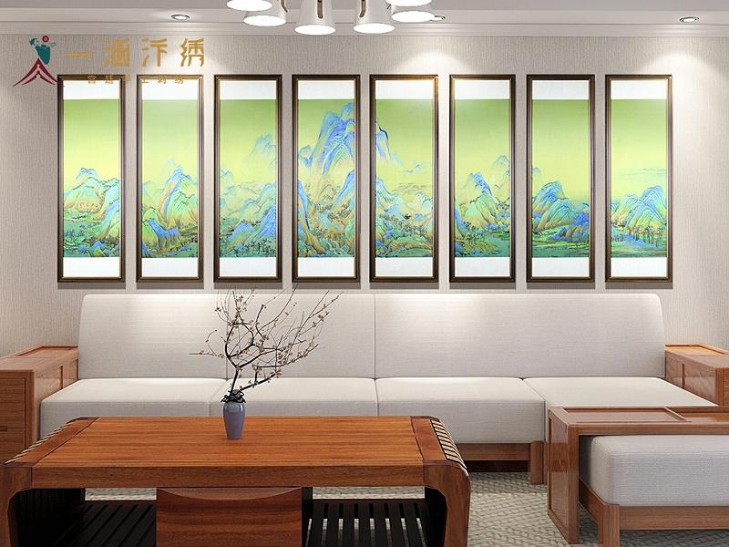 客厅装饰画图案 千里江山图