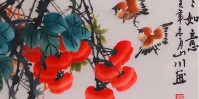 《事事如意》手工刺绣玄关装饰画,热爱生活的点滴里藏着你的福气。