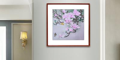 夫妻卧室挂什么画好?刺绣花鸟画和和美美
