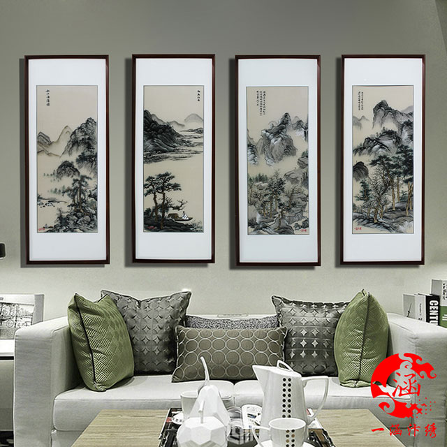 唐寅--山水画---四条屏-(8)