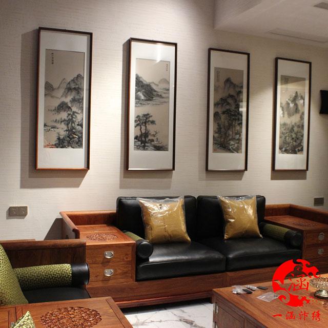 唐寅--山水画---四条屏-(9)