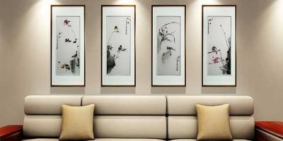 中式条屏挂画:让家美出新韵味