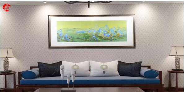 一涵汴绣客厅装饰画