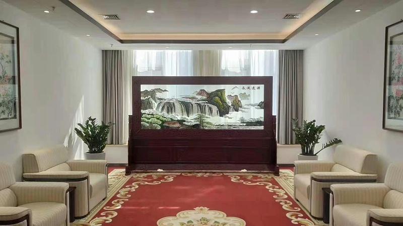 贵宾室接待室屏风 双面绣屏风
