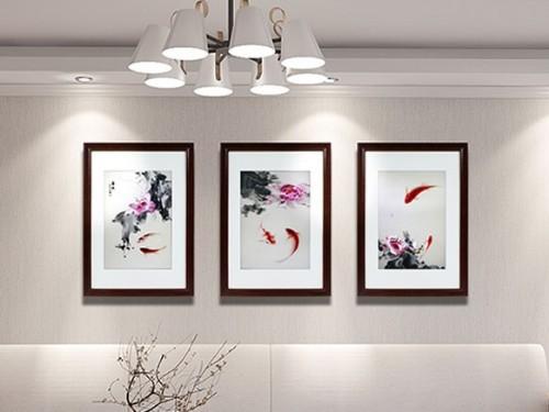 客厅装饰画 刺绣春暖