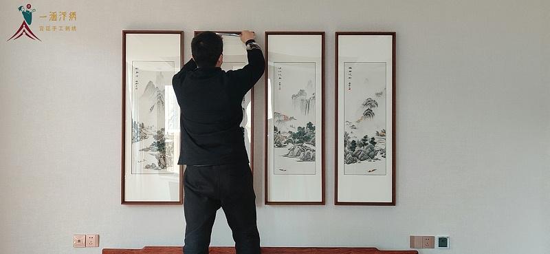 一涵刺绣画 郑州市内免费上门安装