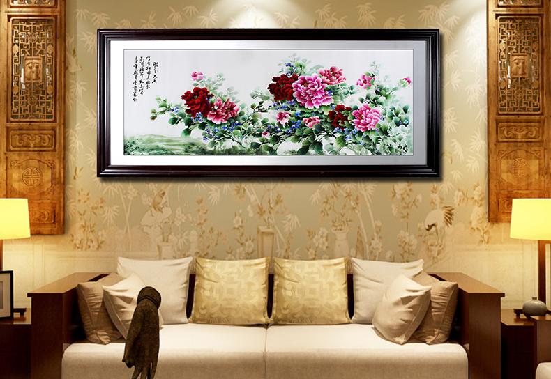 刺绣国色天香牡丹 客厅装饰画