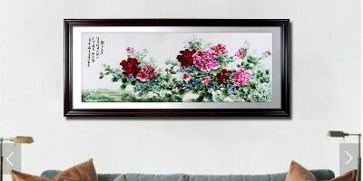 沙发背景墙挂什么画