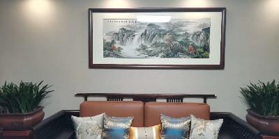 高档别墅装饰画 客户安装实景效果图