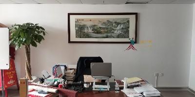 老板办公室挂什么画好?刺绣山水招财有气势