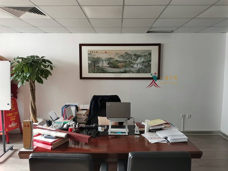 办公室装饰画 刺绣旭日东升图(客户安装实景拍摄)