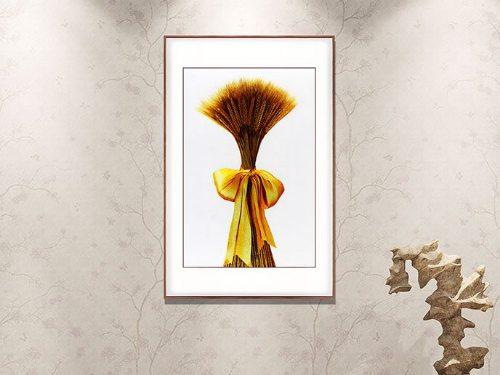 玄关装饰画 刺绣麦穗图