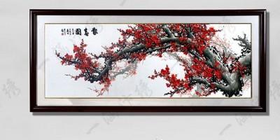 客厅装饰画:一幅红梅报春,让你出门见喜