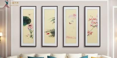 客厅墙挂画:手工刺绣画了解一下