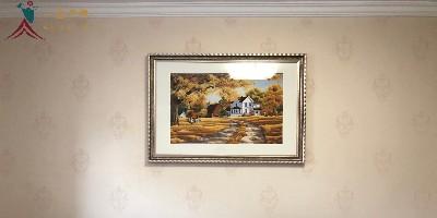 卧室装饰画:刺绣风景画 遇见艺术与生活