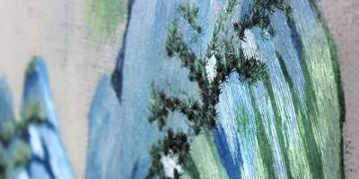 餐厅装饰画之《千里江山图》系列三联画
