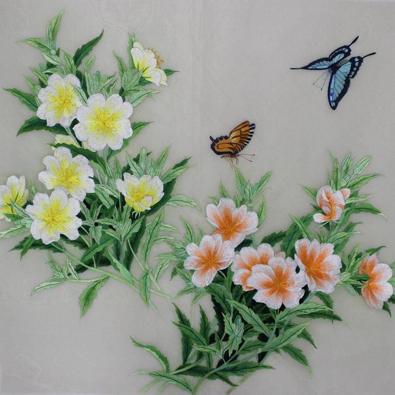 卧室挂画 刺绣花鸟图