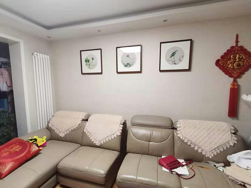 客厅画 刺绣莲蓬三联屏