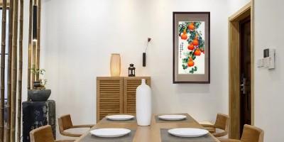 手工刺绣《福禄连绵》客厅餐厅装饰画,葫芦挂画,大吉大利。
