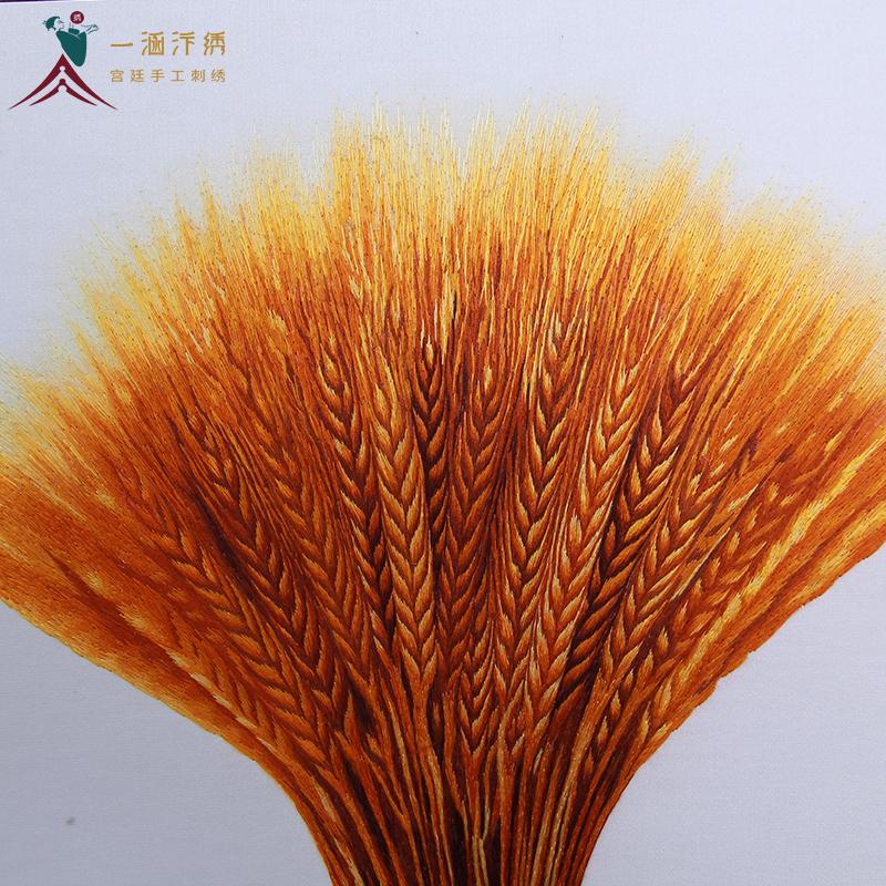 刺绣麦穗图细节