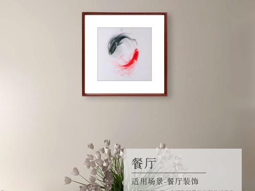 餐厅装饰画 太极鱼