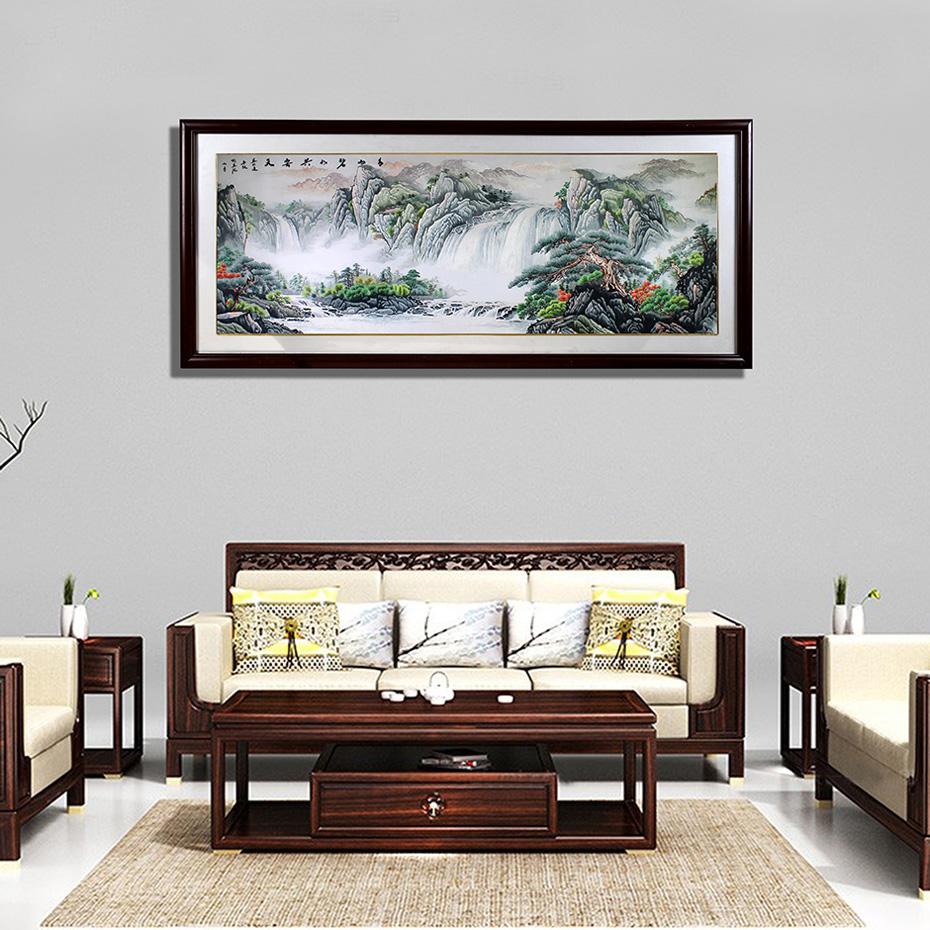 客厅书房办公室挂画 国画山水图
