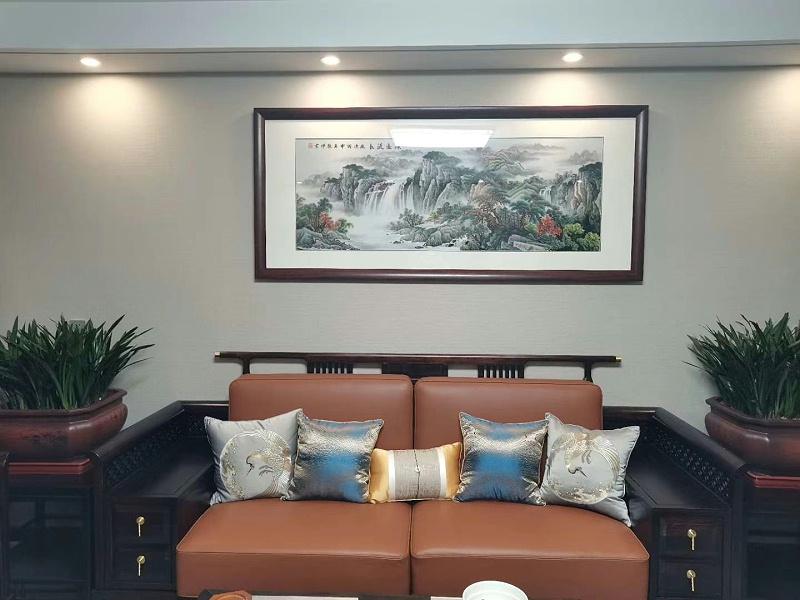 客厅刺绣装饰画 大幅山水画