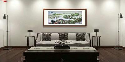 办公室装饰画 万里长城提升财运