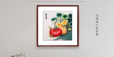饭厅装饰画:一幅刺绣蔬果图 让您食欲大增