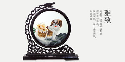 """""""双面刺绣龙头摆件""""传承古典手艺,纵享家居生活"""