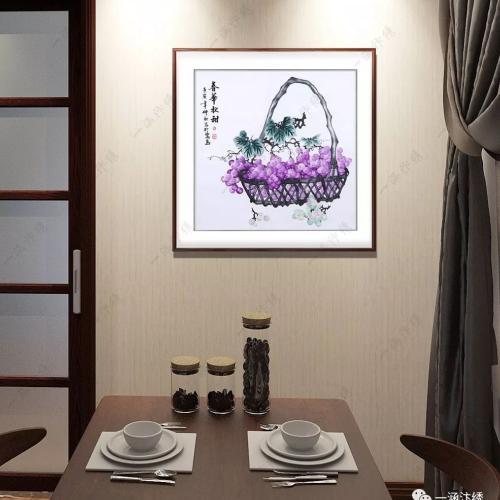 餐厅可以挂什么样的画 了解一下手工汴绣餐厅画再决定