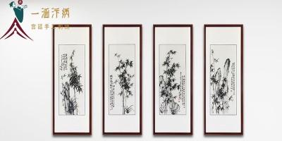 客厅画挂竹子 平安吉祥