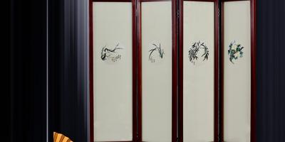 中式屏风:高颜值刺绣屏风隔不断美