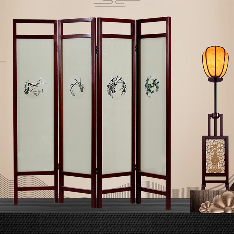 中式屏风 双面绣梅兰竹菊屏风