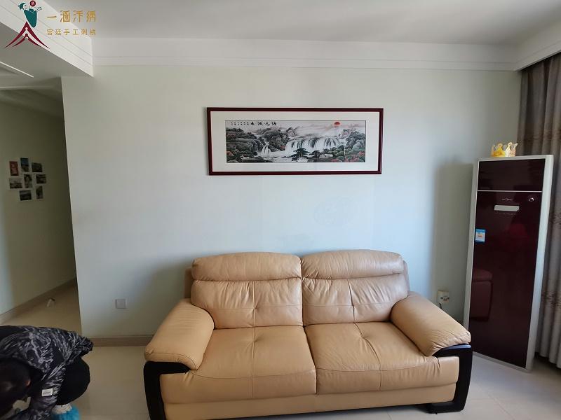 客厅挂画 刺绣源远流长图