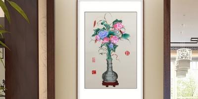 手工刺绣聚瑞图:装点不一样的玄关
