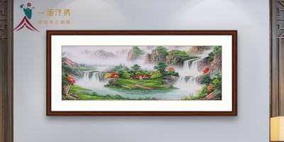 刺绣山水画 挂在家里意向不到的惊喜