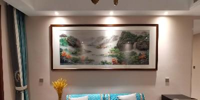 客厅沙发背景墙装饰画 他们都选这款