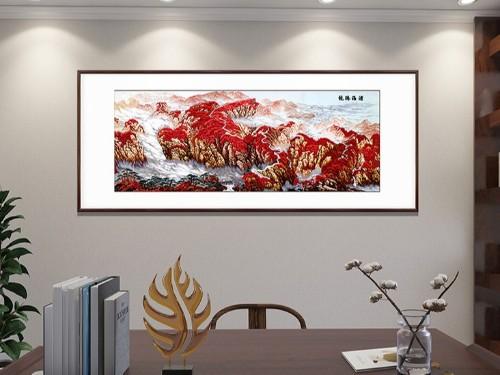 办公室装饰画 刺绣沧海腾龙图