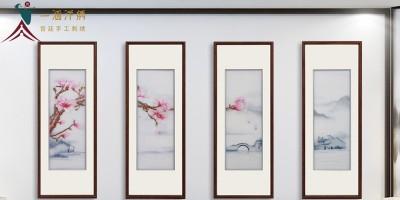 适合客厅的挂画:手工汴绣画有颜又有品