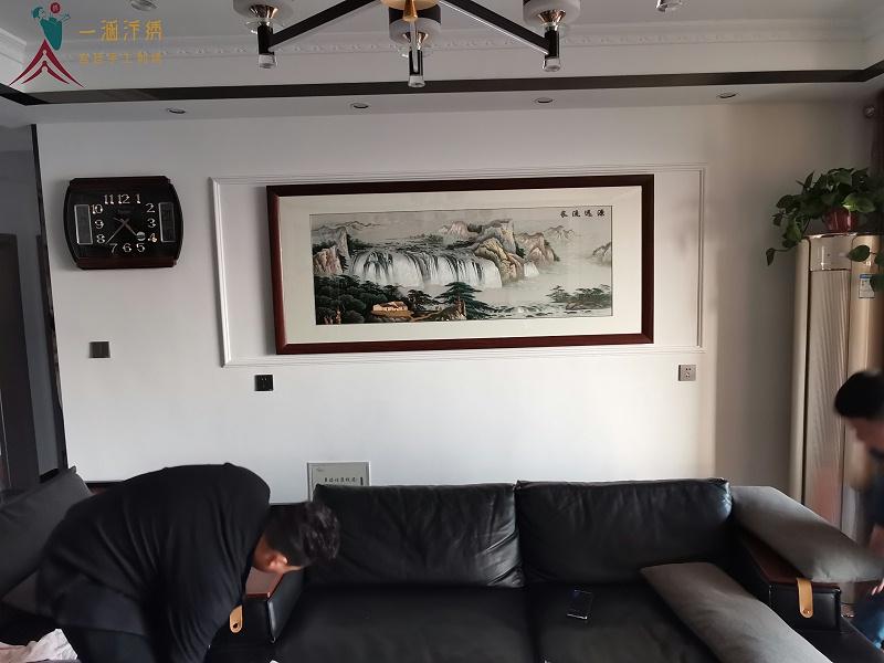 客厅装饰画 刺绣源远流长图