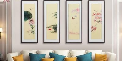 刺绣客厅装饰画 告别单调 更有艺术感
